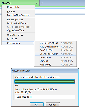 Colorful Tabs for Firefox Options Color Fine-Tuning Tab
