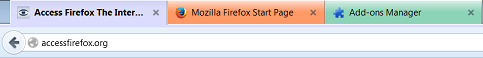 Colorful Tabs for Firefox