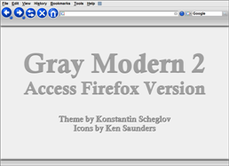 Gray Modern 2 Firefox theme screen shot