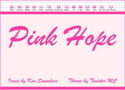 Pink Hope Firefox theme screen shot